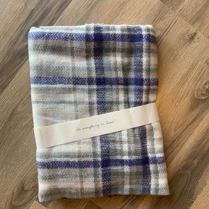 NWT Blanket Scarf with Frayed Edges